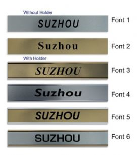 Suzhou Clock Name Plate |World Time Zone City Wall clocks Sign custom Plaque